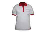 SkylineWears Men's Short Sleeve Fashion Polo Rugby Shirt Small Red-White 9SIAFCX7CU3780