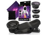 Aesthete Lifestyle Universal 3-in-1 Smartphone Camera Lens Kit - Fits iphone 6/7s/8 Plus, Samsung Galaxy s7/s8 and Most Mobile Devices - 180 Degree Fisheye Lens