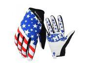 ALMM Bike MTB gloves with American flag pattern design for off-road motorcycles - mountain climbing - hiking and other outdoor sports use, male and female commo 9SIAFJ678M8789