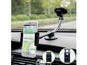 Car Mount, 2 Clamps Long Arm Universal Windshield Dashboard Car Phone Mount Holder Cradle for iphone 7 Plus 6 6s Plus, Samsung Galaxy S7 S6 Edge, HTC, LG and Mo