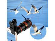 HD 12x Optical Zoom Camera Telescope Clip-On Lens For All Smart Phone Universal 9SIAFK56YC3849