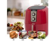 DELLA Low Fat Healthy Multi Cooker Rapid Air Circulation System XL Electric Air Fryer, 5.8 QT, 1800W, Red 9SIAFRA7FS7887