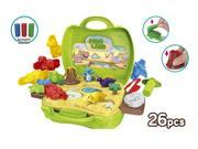 World Tech Toys Activity Dough Dinosaur 26 Piece Suitcase Playset (Color May Vary) 9SIAFS36WF5322