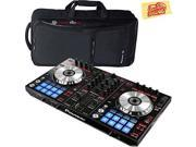 Pioneer DDJ-SR Portable 2-Channel Controller for Serato DJ Bundle with Pioneer DJC-SC2 Carrying Case and Austin Bazaar Polishing Cloth