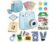 Fujifilm Instax Mini 8 Camera + Fuji INSTAX Instant Film (10 SHEETS) + 14 PC Instax Accessories kit Bundle, Includes; Instax Case + Album + Frames & Stickers +