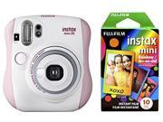 Fujifilm Instax Mini 26 + Rainbow Film Bundle - Pink/White