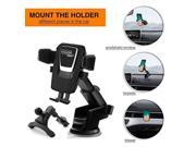 Car Mount Cell Phone Holder For Car Mobile Mount Air Vent Cradle Windshield Dashboard Long Arm Anti-skid Base for iPhone X/8/7/7P/6S/6P/5S Samsung Galaxy S5/S6/