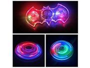 Cystal Bat Fidget Spinner Toy, LED Light Fidget Hand Spinner EDC Toy,Reducer Bearing Toy for ADHD Focus Stress Relief Time Killing Helper, High Speed Bearing