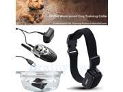 Rechargeable Waterproof 1000 Yard Shock Vibra Pet Dog Training Collar LCD Remote 9SIAG4Y7211743