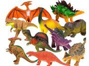 "Toysery Realistic Looking Dinosaurs Toys Set for kids - Plastic Assorted Dinosaur Toys Figures - Pack of 10pcs, 5-Inches"""""" 9SIAG577933107"