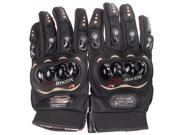 PRO-BIKER Rock Black Short Sports Leather Motorcycle Motorbike Racing Gloves 9SIAG9573T3260