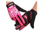 QEPAE Bicycle long finger touch screen riding outdoor motorcycle fitness gloves red L 9SIAGDJ77K3199