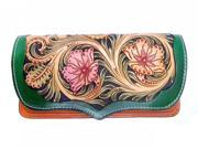 Genuine Retro leather handmade carving floral women purse wallet (9SIAGE17955471 703694000607 Rossie Viren) photo