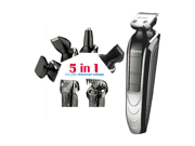 5 in 1 Waterproof Rechargeable Electric Beard Trimmer New Cutter Hair Clipper Professional Hair Trimmer For Men 9SIAGG07D00313