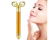 Energy Beauty Bar Gold 24K Face Massager Electric Vibrating Roller Facial Massage Tools Beauty Instrument 9SIAGG07DZ3971