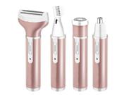 4 in 1 Women Hair Trimmer Kit Electric Epilator Facial Leg Eyebrow Rechargeable Hair Remover Shaver 9SIAGG07E88238