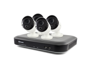 Swann PRO SERIES HD 8-Channel, 4-Camera Indoor/Outdoor Wired 2TB DVR Surveillance System Black/white SWDVK-849804-US