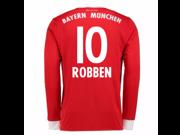 2017-18 Bayern Munich Home Long Sleeve Shirt (Robben 10)