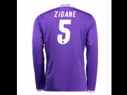 2016-17 Real Madrid Away Shirt (Zidane 5) - Kids