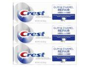 Crest Gum & Enamel Repair Toothpaste Advanced Whitening, 4.1oz Triple Pack