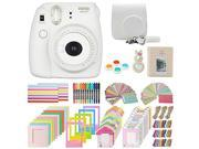 Fujifilm Instax Mini 8+ Instant Film Camera, (Vanilla) Case, Album, selfie mirror, colored close up filters, 40 film frames, 12 color markers & Complete Bundle