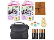 Fujifilm Instax Mini Instant Shiny Star Character Film, Colorful Lenses, Camera Case, Mini Photo Album and More