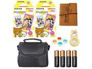 Fujifilm Instax Mini Instant Rilakkuma Character Film, Colorful Lenses, Camera Case, Mini Photo Album and More