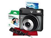 Fujifilm instax SQUARE SQ6 Instant Film Camera (Graphite Gray) with Fujifilm Instax Square Instant Film, Xpix Camera Strap, and Fibertique Cloth