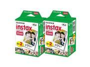Fujifilm Instax Mini Instant Film Bundle with 2 Twin Packs (Total 40) + Recha...