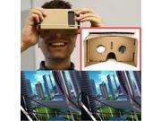 Ulter Clear DIY Cardboard 3D VR Virtual Reality Glasses For Smartphone 9SIAGXK7R04179