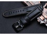 Luxury Leather Watch Band Strap + Lugs Adapters For Fitbit Charge 2 BK