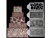 4pcs/Set Wedding Kitchen Cookie Baking Tool Fondant Cake Border Stencil Damask Lace Flower Mould 9SIAH367S18771