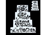 DIY Cake Flower Fondant Side Embosser Bakeware Baking Stencil Wedding Decor 4PCS 9SIAH367S19108