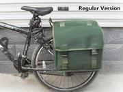 Bicycle Rack Back Tail Carrier Trunk Canvas Bag Thicken Double Pannier Bag Rear Seat Camel Packs 9SIAH3K7R13521