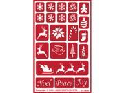 Armour Over N Over Glass Etching Stencil 5 X 8 Holiday Baubles