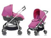 Inglesina Avio Stroller and Bassinet Travel System in Amethyst Pink
