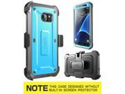 Samsung Galaxy S7 Edge Full-body Holster Case Belt Clip Kickstand Cover Blue