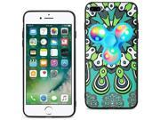 iPhone 7/6/6S Plus Case TPU Protective Cover w/ LED Fidget Spinner Toy Turquoise