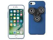 For iPhone 7/6/6S Case TPU Protective Cover w/ LED Fidget Spinner Toy Navy Blue