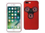For iPhone 7/6/6S Plus Case TPU Protective Cover w/ LED Fidget Spinner Toy Red