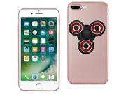 iPhone 7/6/6S Plus Case TPU Protective Cover w/ LED Fidget Spinner Toy Rose Gold