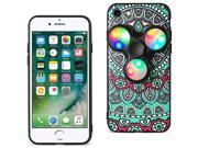 For iPhone 7/6/6S Case TPU Protective Cover with LED Fidget Spinner Toy Teal