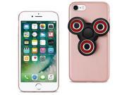For iPhone 7/6/6S Case TPU Protective Cover w/ LED Fidget Spinner Toy Rose Gold