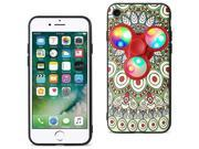 For iPhone 7/6/6S Case TPU Protective Cover with LED Fidget Spinner Toy Beige