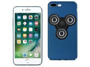 For iPhone 7/6/6S Plus Case TPU Protective Cover w/ LED Fidget Spinner Toy Navy