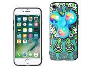 For iPhone 7/6/6S Case TPU Protective Cover w/ LED Fidget Spinner Toy Turquoise