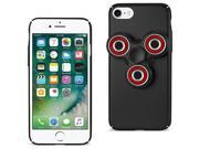 For iPhone 7/6/6S Case TPU Protective Cover with LED Fidget Spinner Toy Black