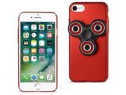 For iPhone 7/6/6S Case TPU Protective Cover with LED Fidget Spinner Toy Red