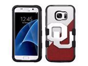 for Samsung Galaxy S7 Armor Impact Hybrid Cover Case Oklahoma Sooners #J
