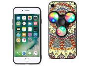 For iPhone 7/6/6S Case TPU Protective Cover with LED Fidget Spinner Toy Saffron